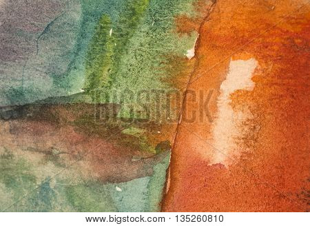 multicolored watercolor painted background texture abstract art
