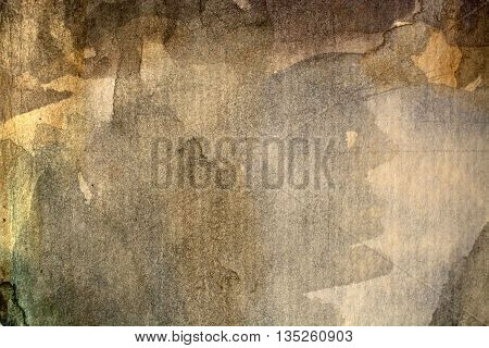 Abstract artistic brown watercolor background dark backdrop design