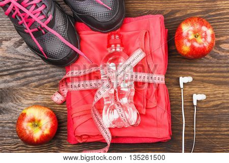 Sports Clothing With Apple And Headphones