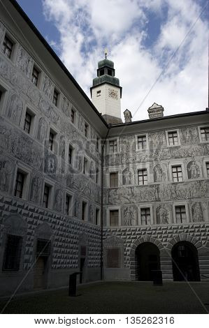 court in the castle of ambras in austria
