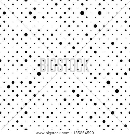 Seamless Minimal Stripe Pattern. Vector Monochrome Polka Texture. Abstract Chaotic Dots Background