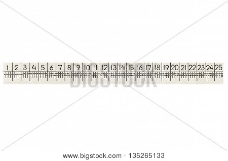 Metal ruler for zooming isolated on white background