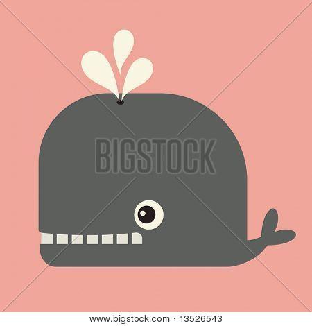 vector cute whale
