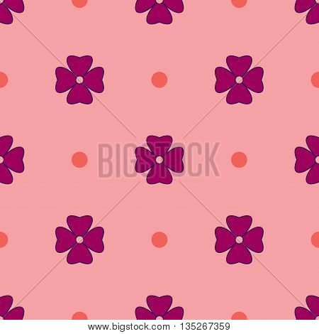 Flowers geometric seamless pattern. Fashion graphic background design. Modern stylish abstract texture. Colorfull template for prints textiles wrapping wallpaper website. Stock VECTOR illustration