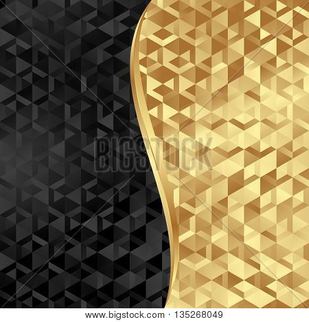 golden and black texture divided into two