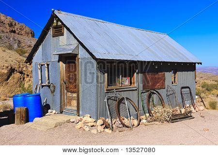 Old Metal Tool Shed