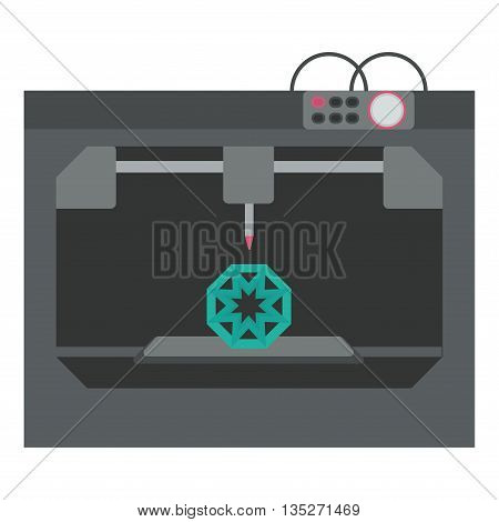 3d printing technology, 3D printer. 3 d printing. Vector illustration.