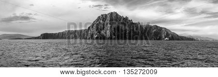 Black and white photography of Cape Horn, Tierra del Fuego, Patagonia, Chile