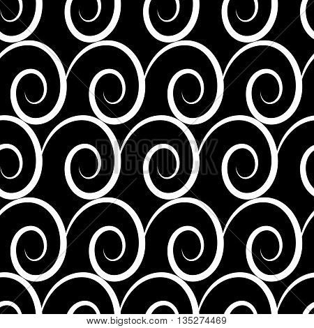 Wave geometric seamless pattern. Fashion graphic background design. Modern stylish abstract texture. Monochrome template for prints textiles wrapping wallpaper website etc. VECTOR illustration