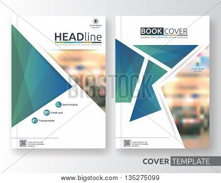 Multipurpose business and corporate cover design layout. Suitable for flyer brochure book cover and annual report. green and blue color A4 size template background with bleeds. Vector illustration