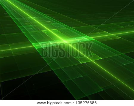 New green technology fractal computer generated abstract background