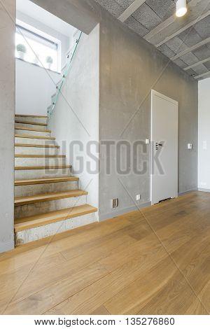 Spacious Corridor In A Modern Villa