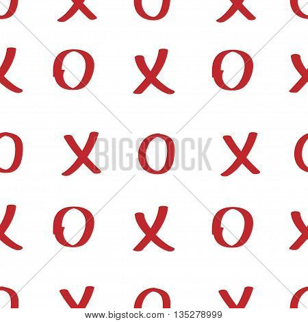 Circle and cross seamless pattern. Fashion graphic background design. Modern stylish abstract texture. Colorful template for prints textiles wrapping wallpaper website etc. VECTOR illustration