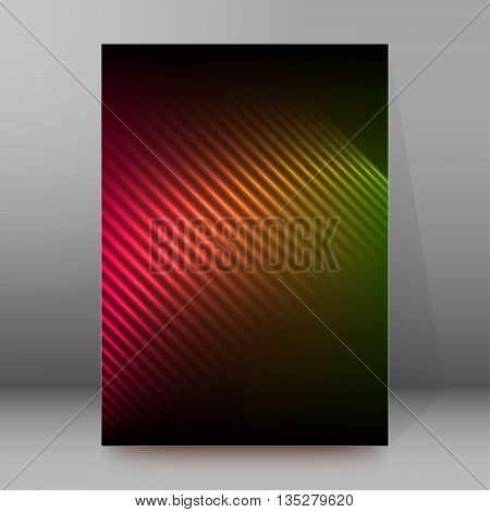 Brochure Cover Template Vertical Format Glowing Background50