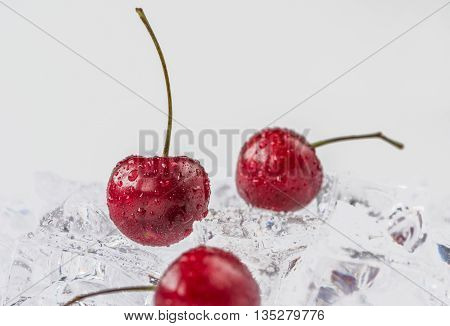 Group of fresh cherry in stuido shot