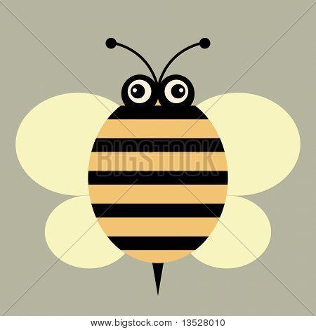 abeja del vector