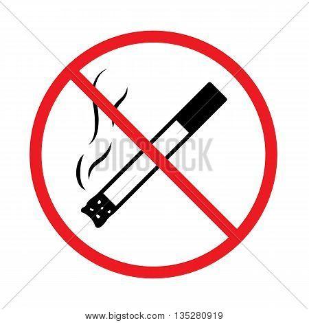No smoking sign. No smoking icon. Vector simple illustration