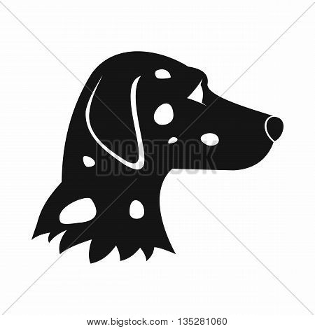 Dalmatians dog icon in simple style isolated on white background. Animals symbol