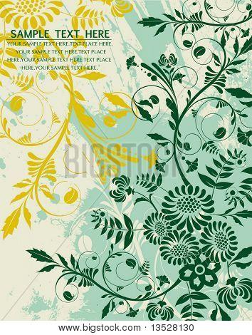 Vector illustration. Green spring background