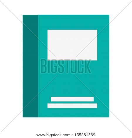 blue notebook cover with three blank spaces vector illustration