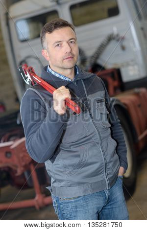 young repairman auto mechanic