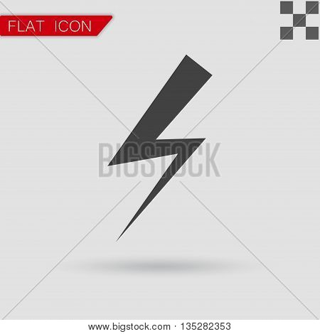 bolt icon vector Flat Style with red mark