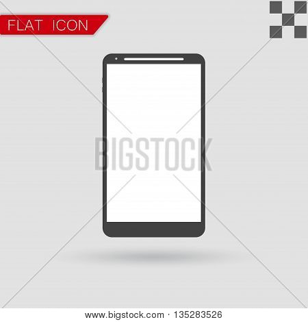 smartphone icon vector Flat Style with red mark