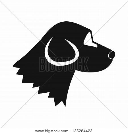Beagle dog icon in simple style isolated on white background. Animals symbol