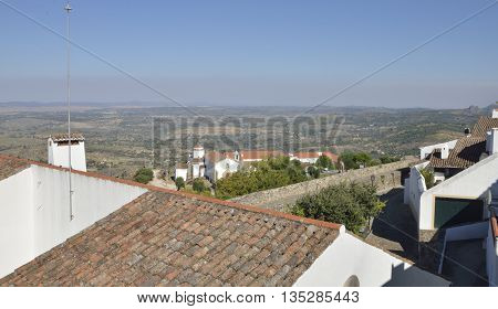 The Natural park San Mamede seen from the village Marvao in the region of Alentejo Portugal.