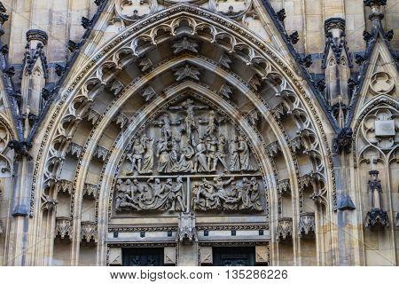 Cathedral Of Saints Vitus In Prague