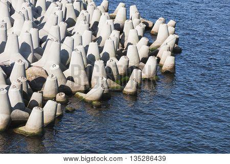 Concrete Blocks As A Part Of Breakwater