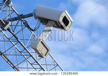 Traffic Enforcement Camera Closeup Photo