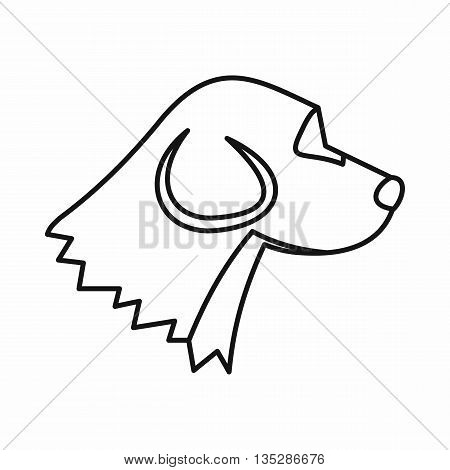 Beagle dog icon in outline style isolated on white background. Animals symbol
