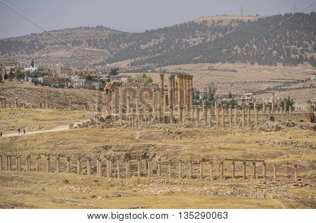 Temple Of Artemis In The Ancient Roman City Of Gerasa, Preset-day Jerash, Jordan