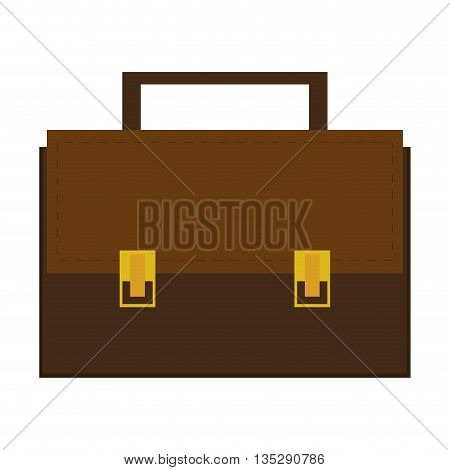 briefcase with two locks and handle on top vector illustration