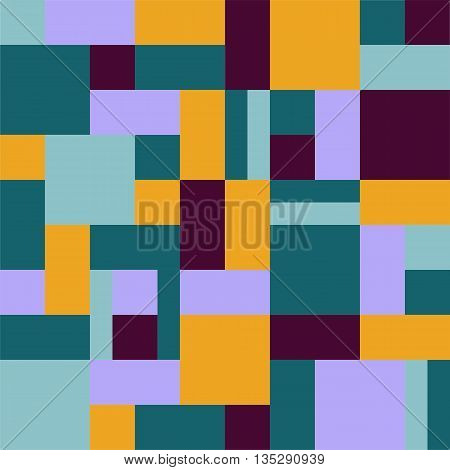 Geometric background rectangles and squares vector. Geometric background vector. Squares background vector. The patchwork or quilt. Quilt pattern vector. Pixel art