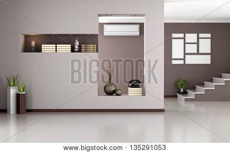 Beige And Brown Modern Interior