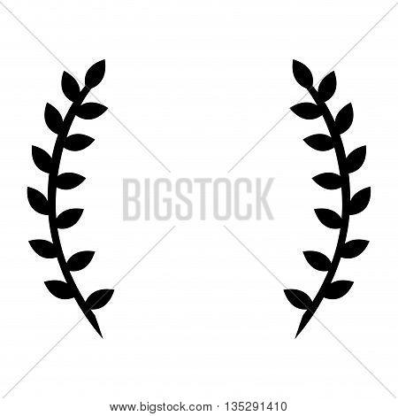black laurel wreath vector illustration flat icon style