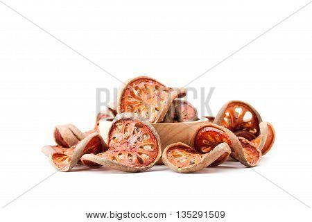 Aegle Marmelos Or Bael Fruit