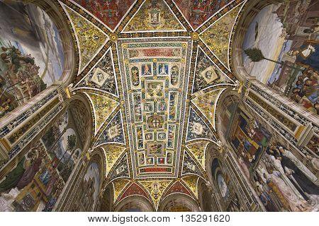 The Piccolomini Library, Duomo Of Siena, Italy