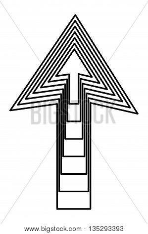 several arrows inside each other pointing up vector illustration