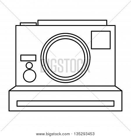 photographic polaroid camera vector illustration flat icon style