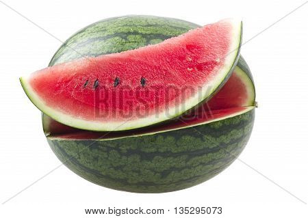 Fresh watermelon sliced close up on the table