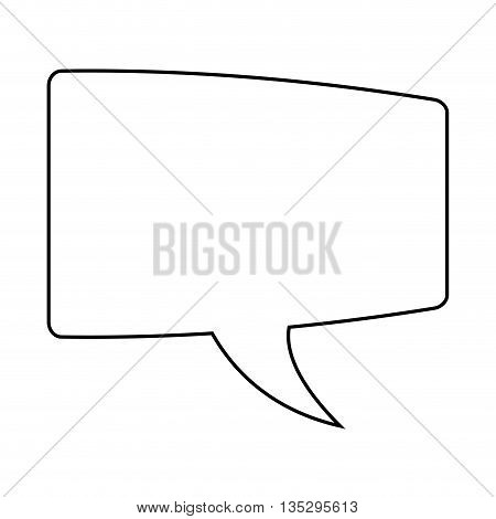 rectangle conversation bubble vector illustration, line icon