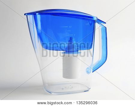 Water filter isolated on white