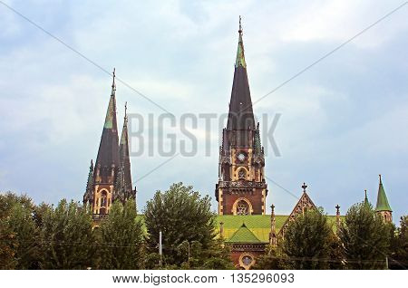 Cathedral of Saints Olga and Elizabeth (Saint Joseph Bilczewski 1903 - 1911). Lviv, Ukraine. Church was built in memory of the popular Empress (Princes) Bavarian Elizabeth (Habsburg), known as Sisi