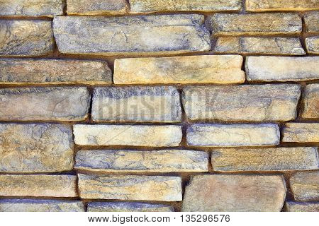 Iron Ore Mineral Ledge Rock Mortar Wall