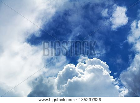 Cloudscape background with a dramatic unusual look.