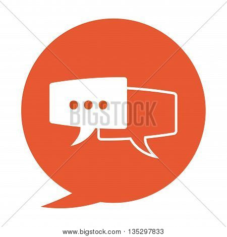 round conversation bubble vector with two conversation bubbles inside illustration