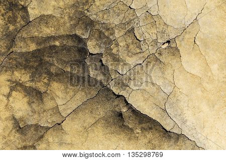 Cracked plastic floor, with some relief and textures